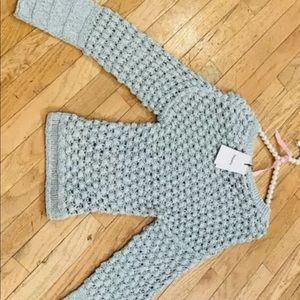 Theory Green/Blue Lace Stitch Pullover Size M